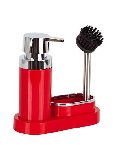 Primanova Primanova Polen Fırçalı Süngerlikli Sıvı Sabunluk Dispenser Kırmızı Kırmızı